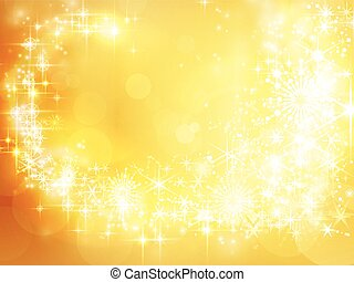 Abstract golden holiday background, Christmas star