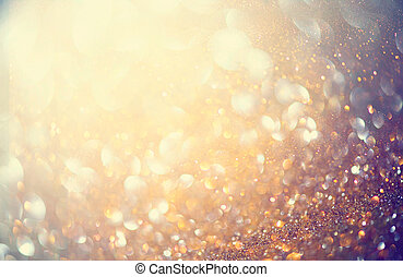 Abstract golden holiday glowing background
