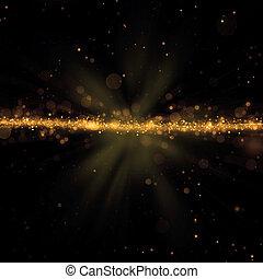 Abstract golden lights