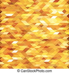 Abstract golden lowpoly designed vector background. Polygonal elements backdrop.