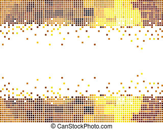abstract golden mosaic background v