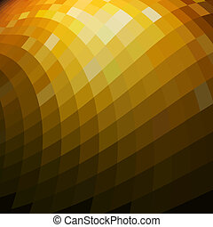 Abstract golden mosaic background with copy space.