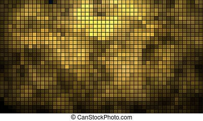 Abstract golden mosaic horizontal vector background.