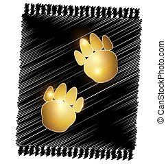 abstract golden pets foot