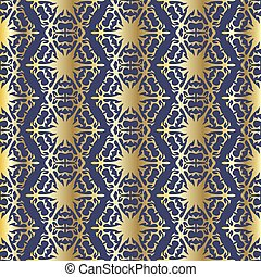 Abstract golden seamless pattern with ornament. Background for wallpapers