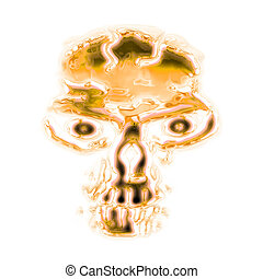 abstract golden skull