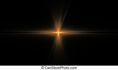 Abstract Golden Star Rotating