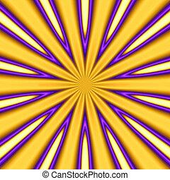 abstract golden starburst background - pretty trippy