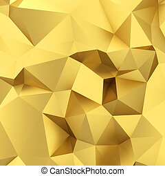 Abstract golden triangle background