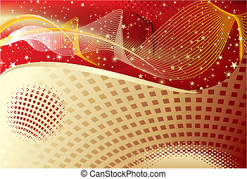 abstract golden wave background wit