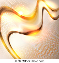 Abstract golden waving background
