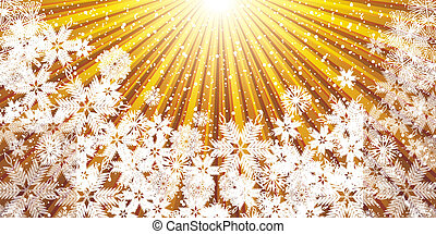 Abstract golden winter Christmas background