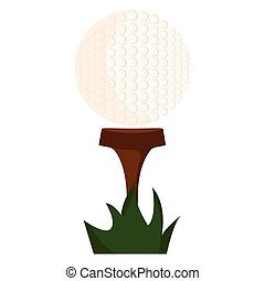 Abstract golf object