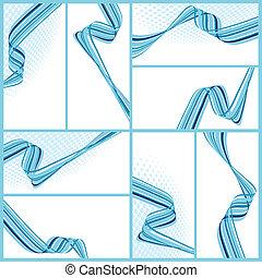 abstract, golvend, achtergronden