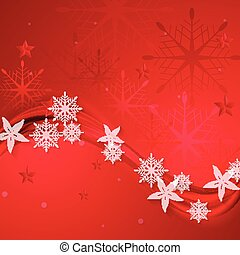 abstract, golvend, kerstmis, achtergrond, rood