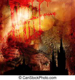 abstract gothic background - abstract religion background