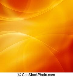 abstract, goud, achtergrond, golven