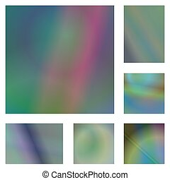 Abstract gradient background design set
