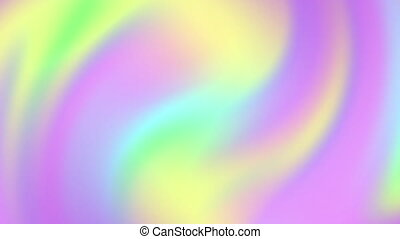 Abstract gradient background, vibrant holographic animation, trendy neon texture, looped 4k.