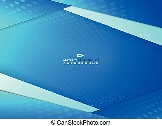 Abstract gradient blue sky overlap design with halftone decoration background. illustration vector eps10