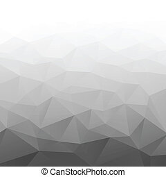 Abstract Gradient Gray Geometric Background. Vector...