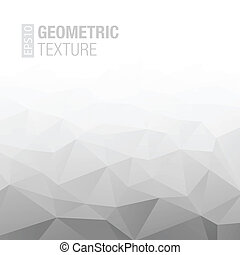 Abstract Gradient Gray White Geometric Background. Vector Illustration