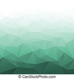 Abstract Gradient Green Geometric Background. Vector Illustration