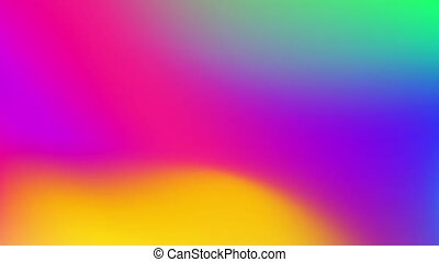 Abstract Gradient Loop. Vivid Colourful Blurry Background. High Quality 4K Footage