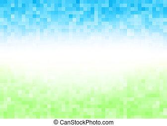 Abstract gradient pixel background - Abstract gradient pixel...