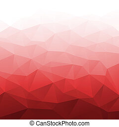 Abstract Gradient Red Geometric Background.