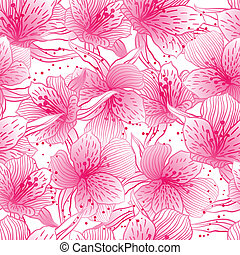 Abstract gradient seamless flower pattern with orchid. -...