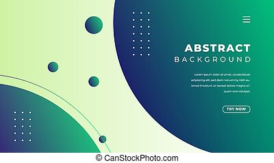 Abstract gradient with rounded shape in green and blue color. Minimalist landing page background design.