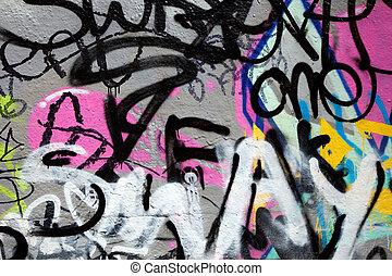 abstract, graffiti, kleurrijke, achtergrond