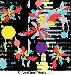 Abstract graffiti pattern on a dark background