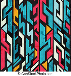 abstract graffiti seamless pattern with grunge effect