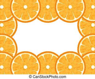 Abstract grapefruit border