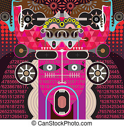 Abstract Graphic Art - vector illus - Modern Graphic Art -...