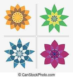 Abstract graphic flowers