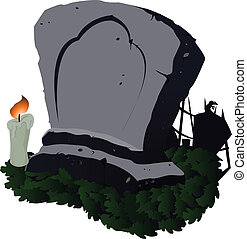 Abstract Grave - Vector Illustration eps file