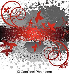 abstract gray and red background