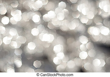 Abstract gray background with plenty of bokeh