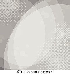 Abstract gray circles background with halftone dots