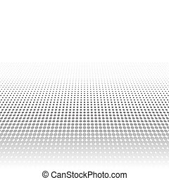 Abstract gray halftone pattern. Minimalistic background from dots. Gradient effect of halftone in retro pop-art style. Template for ad, covers, posters, advertising actions.