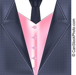 abstract gray pink suit