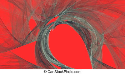 Abstract Gray Smoke on Red