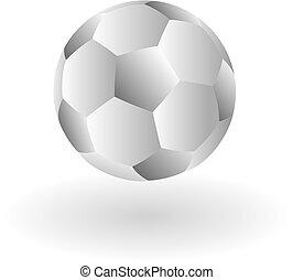 Abstract gray soccer ball.