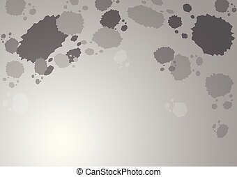 Abstract gray splash on gray gradient background