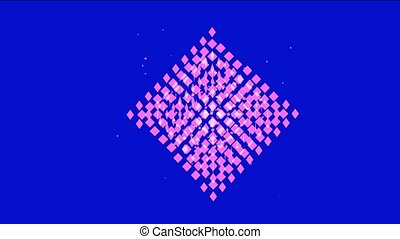 abstract gray square mosaics array