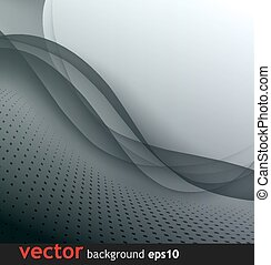 Abstract gray wave vector background