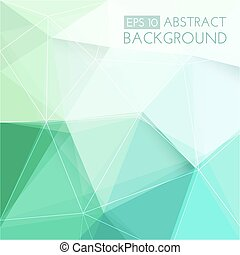 Abstract green 3D background.